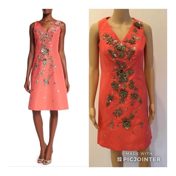 f2aa032f1ef65 Carolina Herrera Dresses   Embellished Vneck Dress   Poshmark